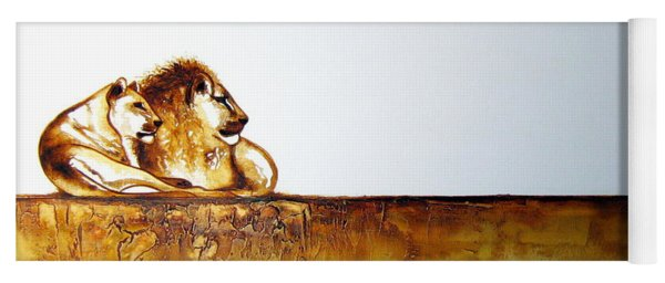 Lion And Lioness - Original Artwork Yoga Mat