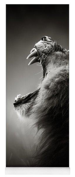 Lion Displaying Dangerous Teeth Yoga Mat