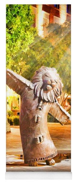Lion Fountain Yoga Mat