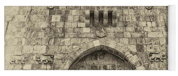 Lion Gate Jerusalem Old City Israel Yoga Mat