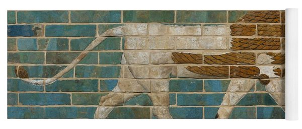 Lion Relief From The Processional Way In Babylon Yoga Mat