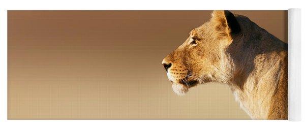 Lioness Portrait Yoga Mat