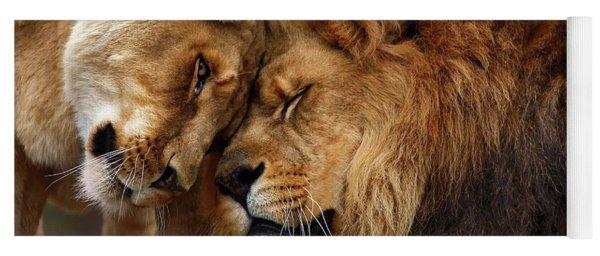 Lions In Love Yoga Mat