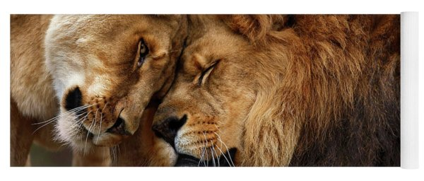 Lions In Love Yoga Mat