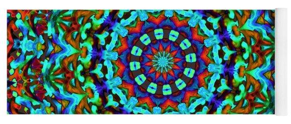 Liquid Dream Kaleidoscope Yoga Mat
