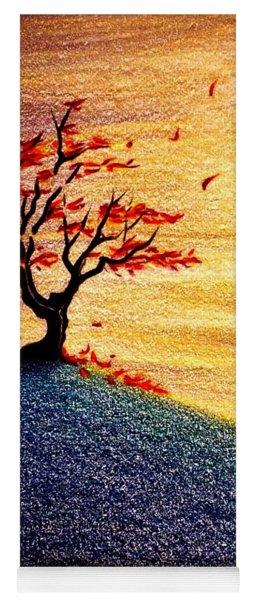 Little Autumn Tree Yoga Mat
