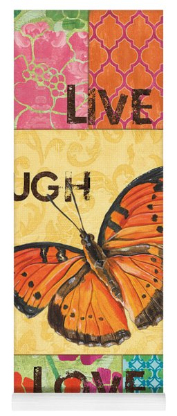 Live Laugh Love Patch Yoga Mat