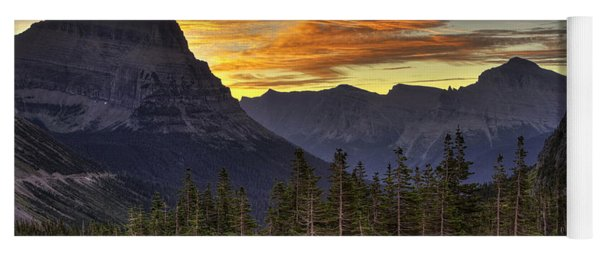 Logan Pass Sunrise Yoga Mat