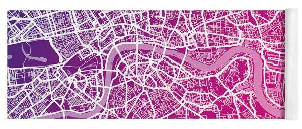 London Map Red Yoga Mat
