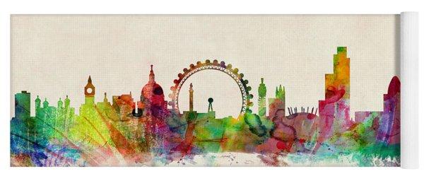 London Skyline Panoramic Yoga Mat
