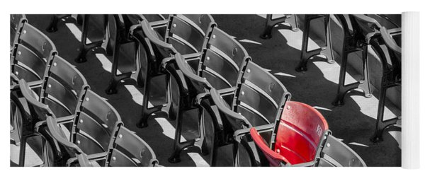 Lone Red Number 21 Fenway Park Bw Yoga Mat