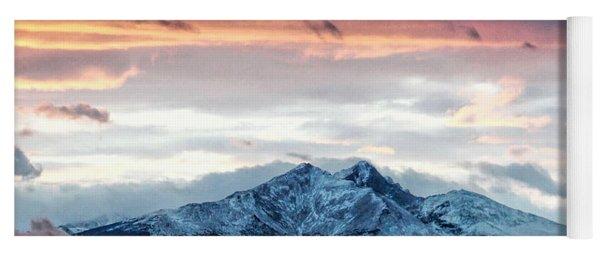 Longs Peak In Winter Yoga Mat