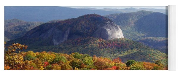 Looking Glass Rock And Fall Folage Yoga Mat