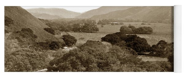 Looking Up The Carmel Valley California Circa 1880 Yoga Mat