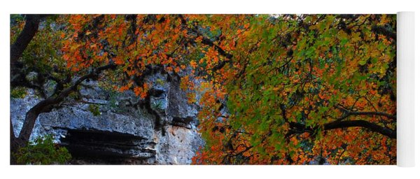 Fall Foliage At Lost Maples State Natural Area  Yoga Mat