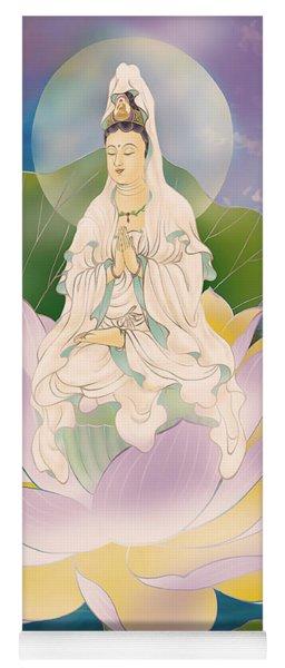 Lotus-sitting Avalokitesvara  Yoga Mat