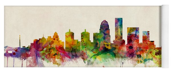Louisville Kentucky City Skyline Yoga Mat