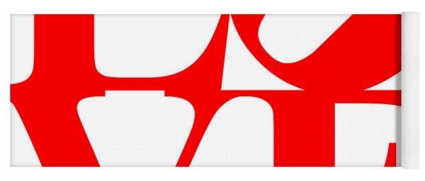 Love 20130707 Red White Yoga Mat