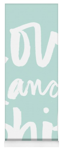 Love And Shit -greeting Card Yoga Mat