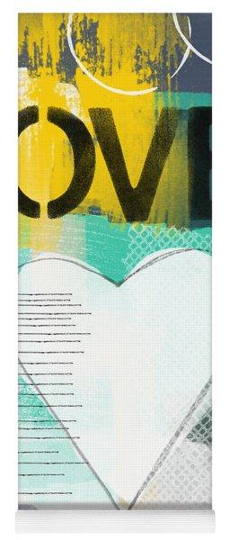 Love Graffiti Style- Print Or Greeting Card Yoga Mat