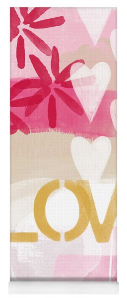 Love In Pink And Gold Yoga Mat