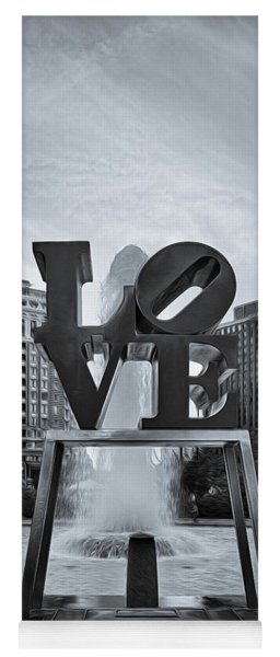 Love Park Bw Yoga Mat