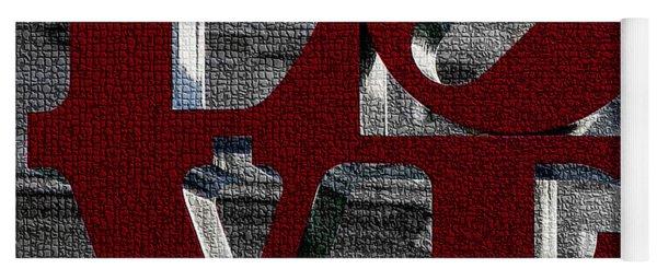 Love Philadelphia Red Mosaic Yoga Mat