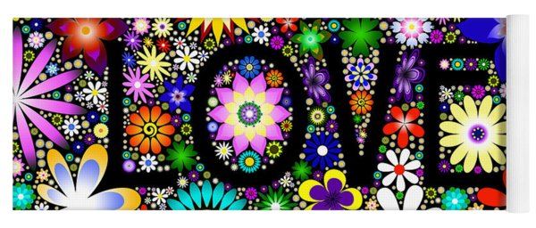 Love The Flowers Yoga Mat
