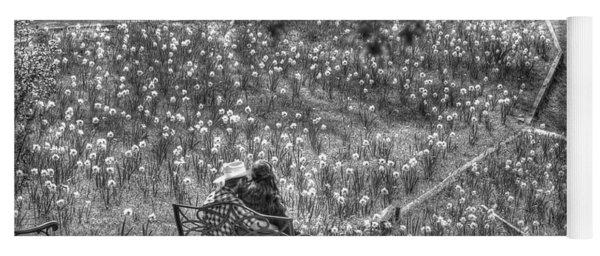 Lovers On Daffodil Hill Yoga Mat