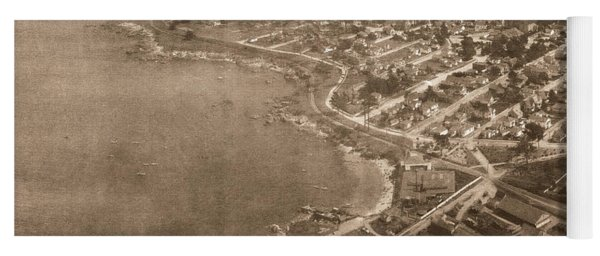 Aerial Of Lovers Point And Pacific Grove California July 10 1906 Yoga Mat