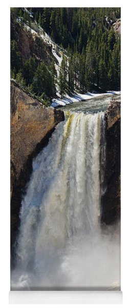 Lower Falls Of The Yellowstone Yoga Mat