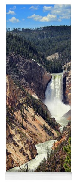 Lower Falls Of Yellowstone Yoga Mat