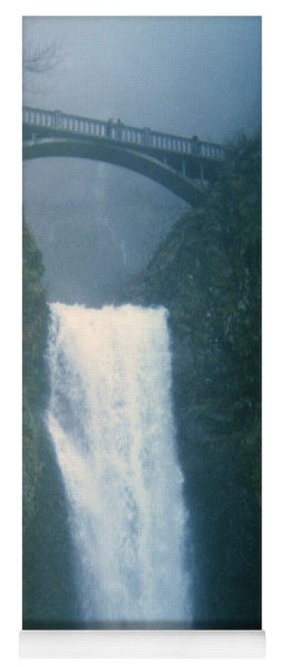 Lower Multnomah Falls Through The Mist Yoga Mat
