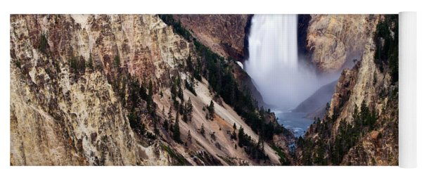 Lower Yellowstone Falls Yoga Mat