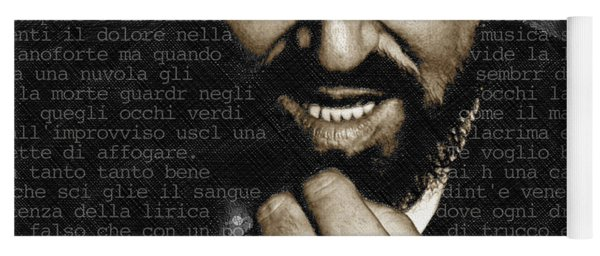 Luciano Pavarotti Yoga Mat