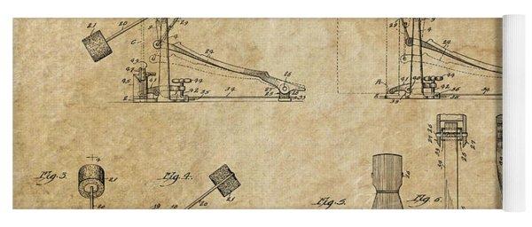 Ludwig Drum Pedal 3 Patent Art 1951 Yoga Mat