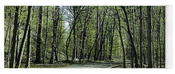M119 Tunnel Of Trees Michigan Yoga Mat