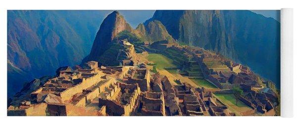 Machu Picchu Late Afternoon Sunset Yoga Mat