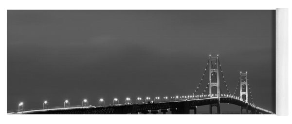 Mackinac Bridge Black And White Yoga Mat