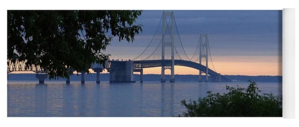 Mackinac Bridge Twilight Yoga Mat