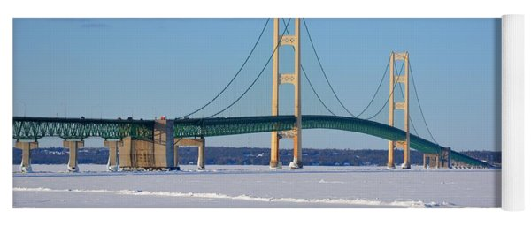 Mackinac In March Yoga Mat