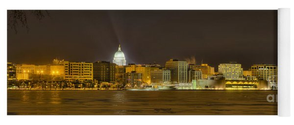 Madison - Wisconsin City  Panorama - No Fireworks Yoga Mat