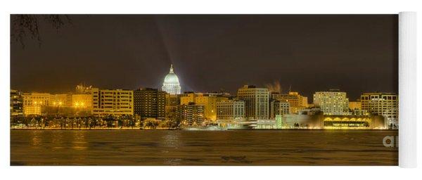 Madison - Wisconsin City  Panorama - No Fireworks Yoga Mat