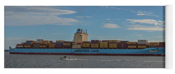 Ocean Going Freighter Yoga Mat