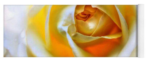 Magic Ivory Rose By Julia Fine Art Yoga Mat