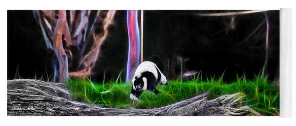 Walk In Magical Land Of The Black And White Ruffed Lemur Yoga Mat