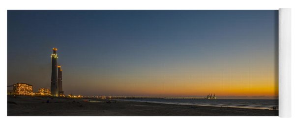 magical sunset moments at Caesarea  Yoga Mat