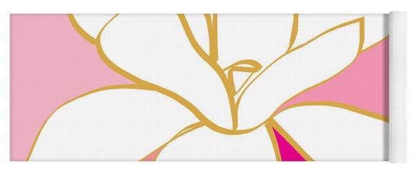 Magnolia 1- Colorful Painting Yoga Mat