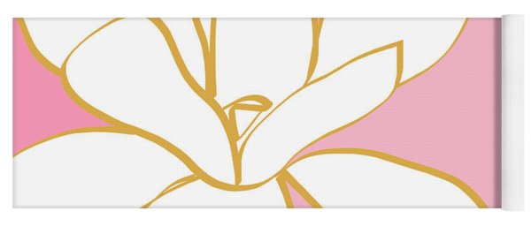 Magnolia 2- Colorful Floral Painting Yoga Mat