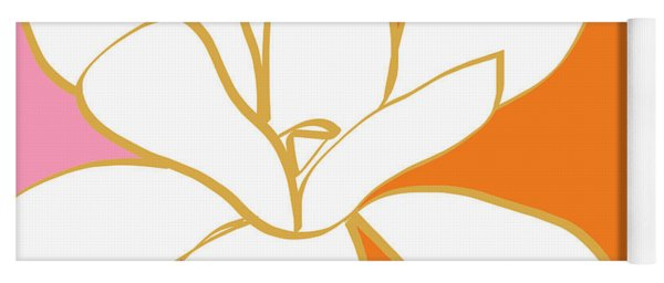 Magnolia 3- Colorful Flower Art Yoga Mat